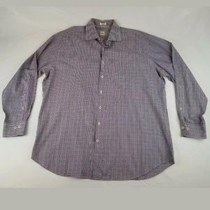 Peter Millar Gingham Check Long Sleeve Shirt XL